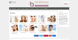 art&beauty beauty center website | web idea