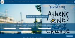 Athens one day cruise website | web idea